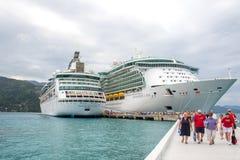 """Labadee, Haiti-†""""am 6. Februar 2015: Königliche karibische Kreuzfahrt zwei Lizenzfreies Stockbild"""