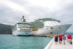 Labadee, Haiti – February 06, 2015: Two Royal Caribbean Cruise Royalty Free Stock Image