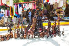 LABADEE, HAITI - MAY 01, 2018: Handcrafted Haitian Souvenirs stock photo