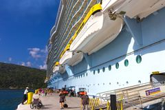 LABADEE, HAITI - MAY 01, 2018: Royal Caribbean, Oasis of the Seas docked in Labadee, Haiti on May 1 2018. The second largest passenger ship ever constructed Royalty Free Stock Photography