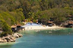 Labadee Haiti strand fotografering för bildbyråer