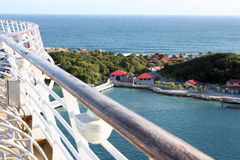 Labadee Haiti weg von einem Kreuzschiff stockfoto