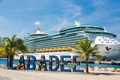 Labadee Harbor and Cruise Ship Royalty Free Stock Images