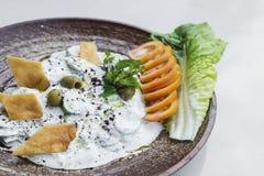 Laban jogurtu upadu przekąski ogórkowy bliskowschodni libański jedzenie Zdjęcia Stock