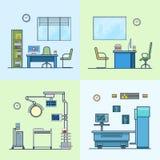 Labb för apotek för medicin för sjukhusklinik op medicinsk stock illustrationer