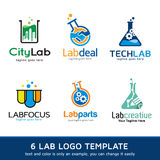 Labb Logo Template Design Vector Arkivbilder