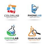Labbpacke Logo Template Design Vector Royaltyfri Illustrationer