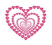 Labbra bacianti di figura del cuore Immagini Stock Libere da Diritti