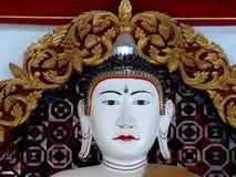 Labbra bianche e rosse di Buddha Fotografie Stock