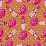 Labbra di bacio e modo rosa del rossetto Immagini Stock