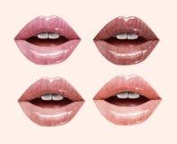 Labbra nude messe illustrazione di stock
