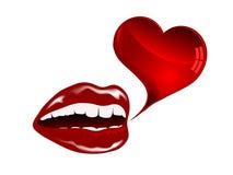 Labbra rosse Immagini Stock Libere da Diritti