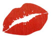 Labbra rosse isolate Immagini Stock Libere da Diritti
