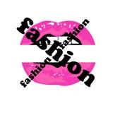 Labbra sexy di web nel rosa royalty illustrazione gratis