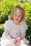 Labbra spalmate ragazza Fotografia Stock Libera da Diritti