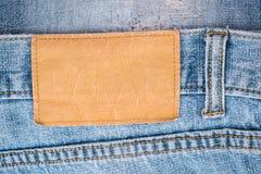 Labe джинсов Стоковое Изображение RF