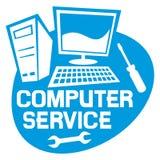 Labe компьютерного обслуживания иллюстрация вектора