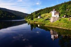 Labe水坝, Spindleruv Mlyn,大山 库存图片
