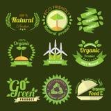 Labe verde do produto Fotografia de Stock
