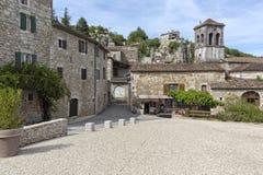 Labeaume wioska, Francja fotografia stock