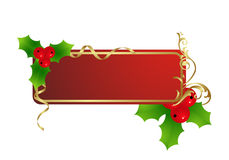 The label. Red christmas label isolated on a white. Vector illustration Stock Photography