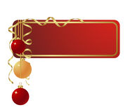 The label. Red christmas label isolated on a white. Vector illustration Stock Photo