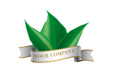 Label. S generic leaf vector illustration Stock Photography