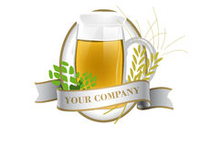 Label. For beer vector illustration Royalty Free Stock Image