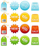 Label. Vector illustration - Colourful label icon set Royalty Free Stock Photography