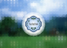 Label on abstract mosaic background Royalty Free Stock Photography