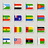 Label - African Flags Stock Image