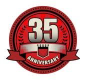 Label 35 anniversary. Vector illustration Stock Image