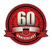 Label 60 anniversary. Vector illustration vector illustration