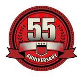 Label 55 anniversary. Vector illustration stock illustration