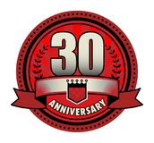 Label 30 anniversary. Vector illustration Stock Photos