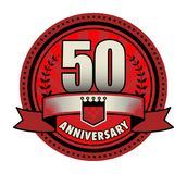 Label 50 anniversary. Vector illustration Royalty Free Stock Images