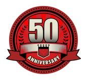 Label 50 anniversary. Vector illustration stock illustration