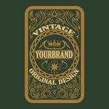 Label antique, conception de cadre de vintage, rétro logo Photo libre de droits