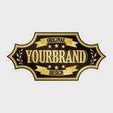 Label antique, conception de cadre de vintage, rétro logo Photographie stock