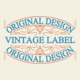 Label antique, conception de cadre de vintage, rétro logo Photos stock