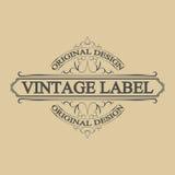 Label antique, conception de cadre de vintage, rétro logo Photographie stock libre de droits