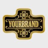 Label antique, conception de cadre de vintage, rétro logo Images libres de droits