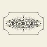 Label antique, conception de cadre de vintage, rétro logo Image stock