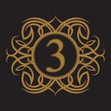 Label antique, conception de cadre de vintage, rétro logo Image libre de droits