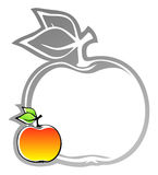 Label with apple Stock Photo