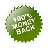 label arrière de 100 argents Images libres de droits