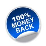 label arrière de 100 argents Illustration Libre de Droits
