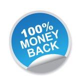 label arrière de 100 argents Photographie stock libre de droits