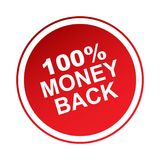 label arrière de 100 argents Illustration Stock