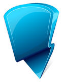Label with arrow. Blue label with arrow. Icon. Vector illustration Stock Photo